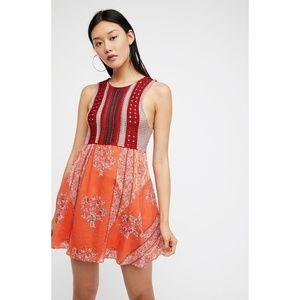 NWT 🧡 Free People Boho Crochet Top Katie Dress